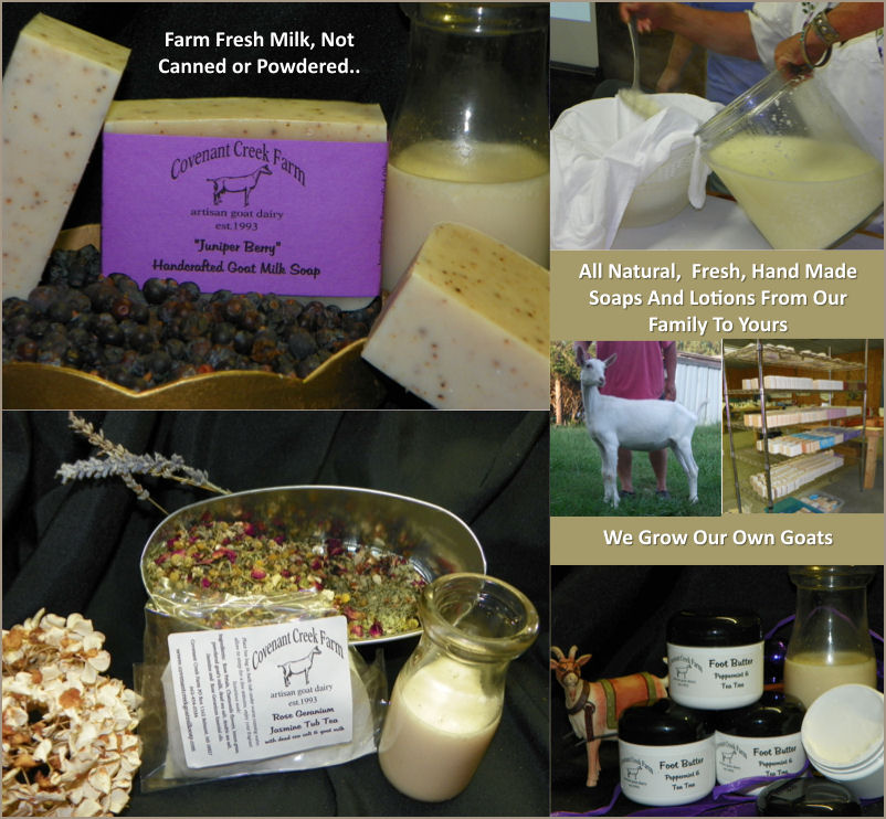 Covent Creek Farm Handcrafted Goat Milk Bath & Beauty Products