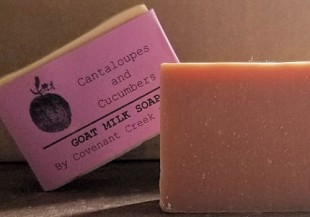 Cantaloupes & Cucumbers Goat Milk Soap